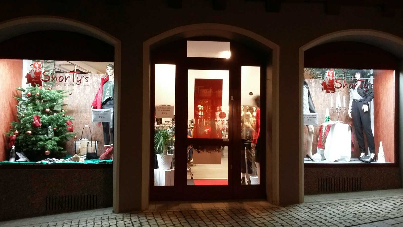 Schaufenster Shorty's Fashion Store in Eppingen